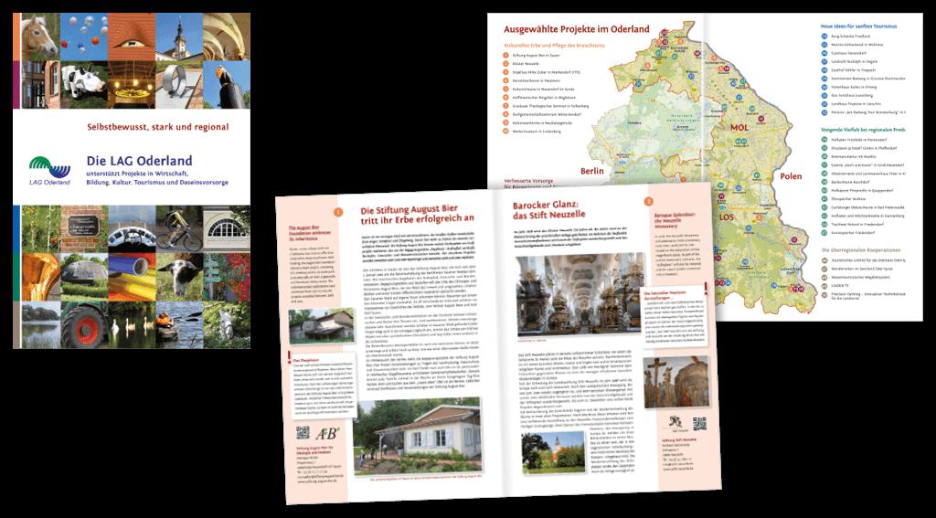 LAG Oderland | Gestaltung der 64-seitigen Imagebroschüre »Die LAG Oderland«