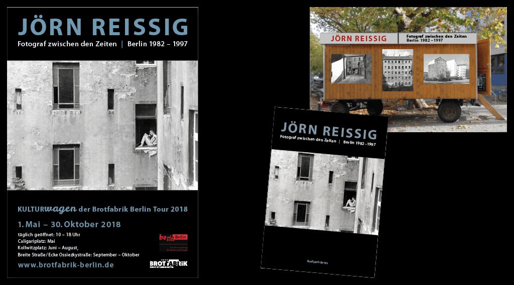 Brotfabrik Berlin | Gestaltung von Plakat, Katalog, Tafeln für die Ausstellung im »Kulturwagen«