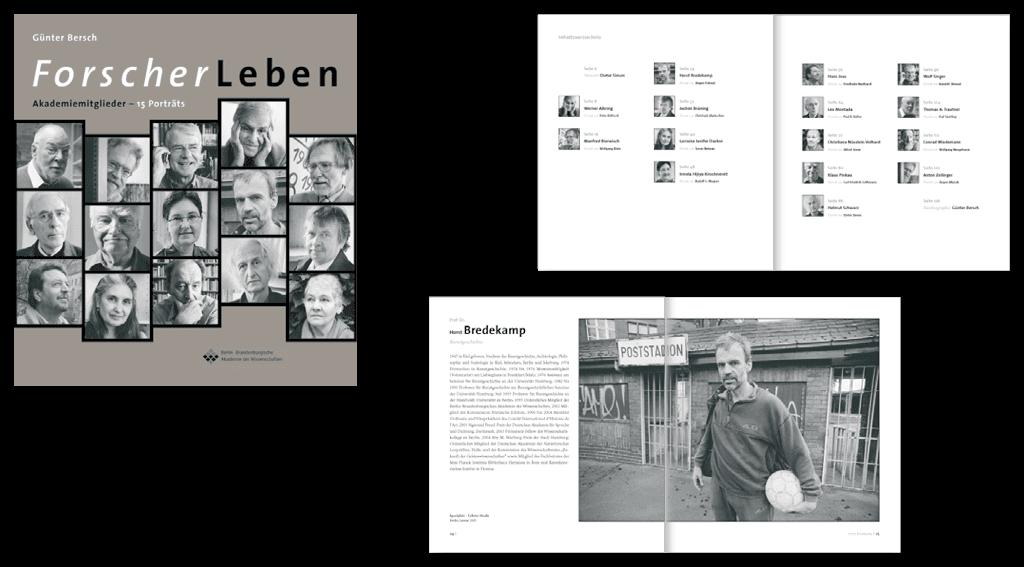Akademie der Wissenschaften | Gestaltung des 128-seitigen Buches »ForscherLeben«