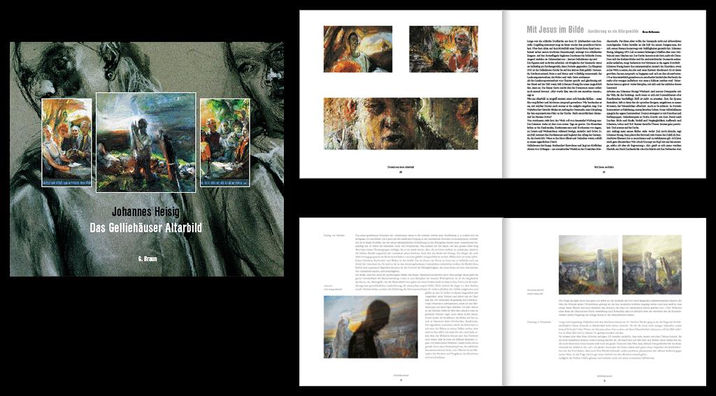 Maler Johannes Heisig | Gestaltung des 96-seitigen Buches »Das Gelliehäuser Altarbild«