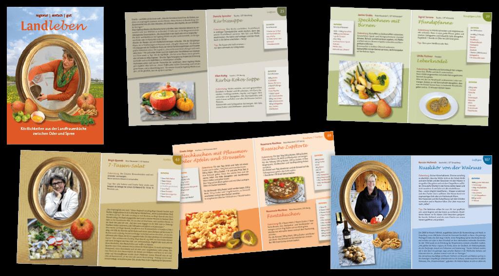 LAG Oderland | Gestaltung des 116-seitigen Kochbuches »Landleben«