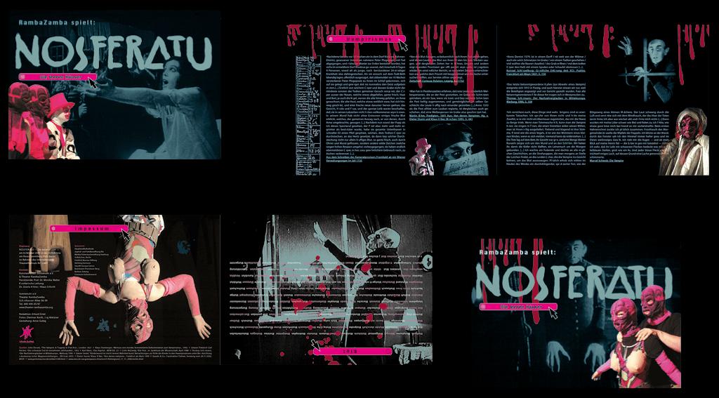 Sonnenuhr e. V. – Theater RambaZamba | Gestaltung der16-seitigen Broschüre »Nosferatu«