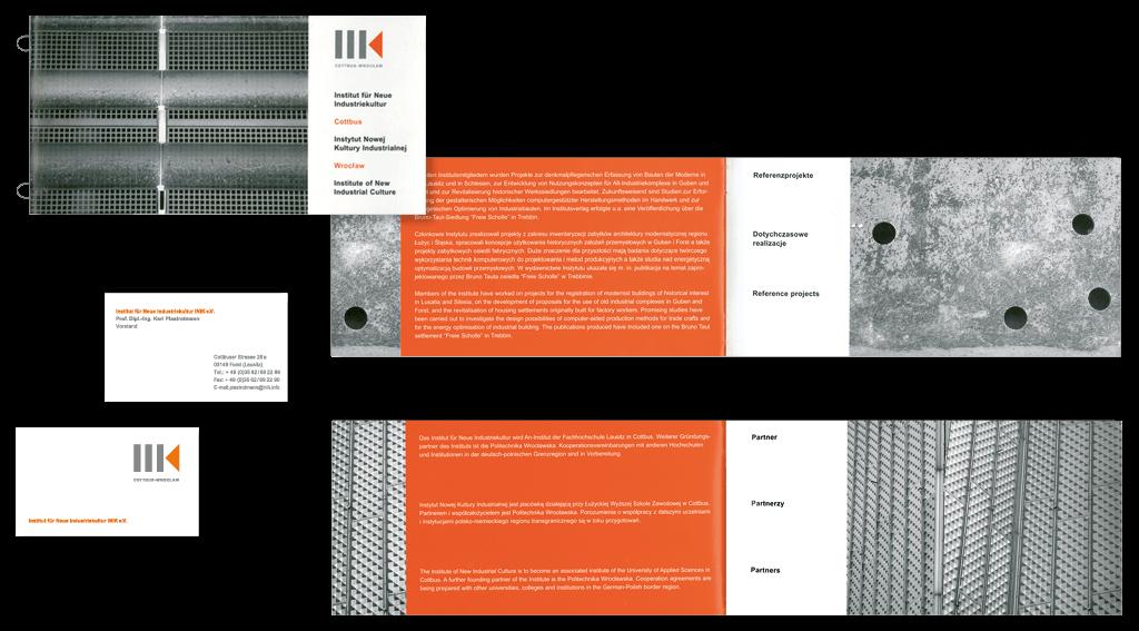 INIK | Institut für neue Industriekultur | Logoentwicklung, Broschüre, Geschäftsausstattung